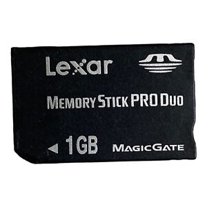1GB LEXAR MEMORY STICK PRO DUO CARD for SONY PLAYSTATION PSP MagicGate