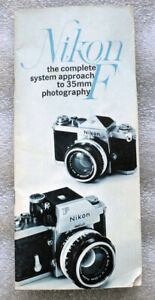 NIKON F System 35mm camera Product Catalog