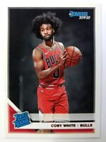 2019 Panini Donruss Rated Rookies Coby White Rookie RC #206, Chicago Bulls