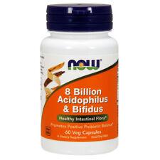 NOW Foods Acidophilus & Bifidus, 8 Billion x 60 Veg Capsules - Probiotic