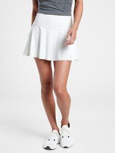 "ATHLETA Ace Tennis Skort 13.5"" NWT - SMALL Bright White $69 #657545"