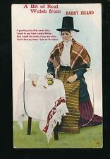 Wales Glamorgan Glam BARRY Lady dress costume fashion Pocket Novelty 1915 PPC