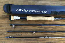 Orvis Clearwater II 1007-4 Tip 9.5 Fly Rod Length 10' 7 wt. Line 4 Pc blue rod t