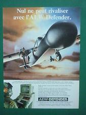 9/1986 PUB PILATUS BRITTEN-NORMAN AEW DEFENDER RADAR SKYMASTER THORN EMI AD