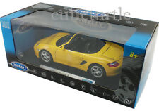 Welly Porsche Boxster S Convertible 1:18 Diecast Yellow 18005