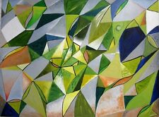 """Magnífico Original Martin Davis """"Envy"""" Pintura Abstracta"""
