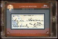J. EDGAR HOOVER CUTS SIGNATURES AUTO 2 OF 2  2009 TOPPS STERLING  BEAUTIFUL MINT