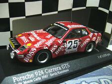 PORSCHE 924 GTS Carrera Rallye Monte Carlo 1982 Boss #25 Barth Minichamps 1:43