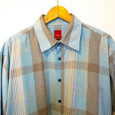 ESPRIT Men Size XL Shirt Check Blue Long Sleeve