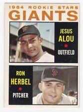 GIANTS Rookie Stars 1964 Topps Baseball # 47 Jesus Alou RC Ron Herbel Ex Plus