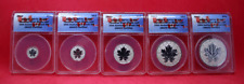 2013 CANADA SILVER MAPLE LEAF - 25TH ANNIVERSARY (5) Coin Set - ANACS RP70 DCAM