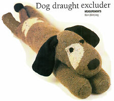"35.3"" long  DOG TOY DRAUGHT EXCLUDER TO KNIT, DK or 4ply YARN KNITTING PATTERN"
