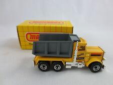 1981 Matchbox Macau Peterbilt Quarry Truck #30 Dirty Dumper Diecast Car Box