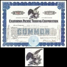 California Pacific Trading Corporation 1936 Stock Certificate