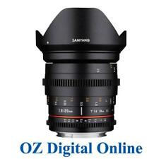 New Samyang 20mm T1.9 ED AS UMC Cine Lens for Nikon 1 Yr Au Wty