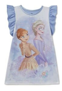 Disney Frozen ANNA & ELSA Nightgown/Sleepshirt Size 4T   NWT