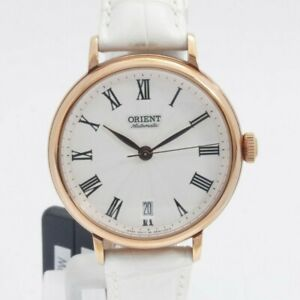 ORIENT Automatic ladies Watch ER2K002W White dial Leather Date