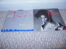 """Diana Ross Photo P/S 7"""" Record Collection Daryl Hall song Swept Away Oates H&O"""