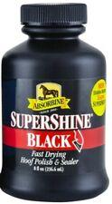 NEW SuperShine HOOF POLISH & SEALER 8oz Black Absorbine w/ Applicator Sponge Cap