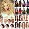 Long Short Curly Full Wig Synthetic Heat Resistant Wigs Natural Deep Wave Blonde