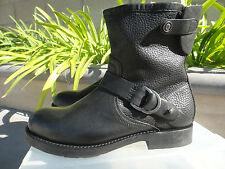Olukai NAHUKU Short Leather Boot Black Leather HANDMADE GOODYEAR, Womens Size 7M