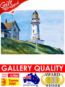 Edward Hopper, Light at Two Lights, 1927, 20x14inch (plus border) Photo Pearl