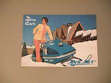 1971 Vintage Sno-Jet Snowmobiles Foldout Pocket Brochure