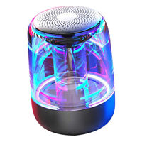 Portable LED Colorful Light Wireless Bluetooth Speakers With Mic