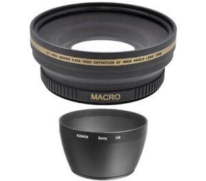 72mm Digital Wide Angle Lens For Sony DSC-H50 DSC-H9 DSC-H7