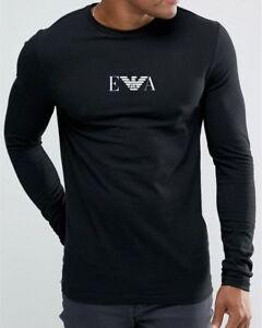 Emporio Armani  Black T-Shirt Men's Long sleeve Slim fit T-Shirt Size M*L*XL NWT