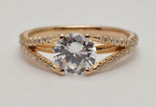 Tycoon 18k Rose Gold & 0.38ctw Diamond Accents Engagement Ring Mounting