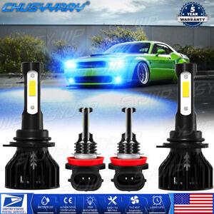 For Dodge Challenger 2015-2020 4x Combo LED Headlights High Low Beam Fog Bulbs
