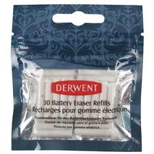 Derwent Replacement Erasers Pack of 30 for Battery Operated Eraser