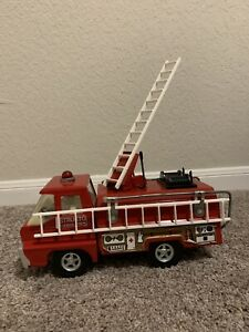 VINTAGE EMERGENCY RESCUE SQUAD FIRE TRUCK-1970s-STRUCTO BY ERTL TOYS