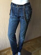 New $1800 Ermanno Scervino Women's Jeans Pants Blue Size 44 It ( M US ) Italy