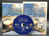 """NINTENDO WII SPIEL"""" BLAZING ANGELS Squadrons of WW II """" KOMPLETT"""