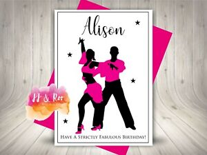 Personalised Latin, Salsa, Strictly Come Dancing Birthday Card 30th 40th 50th