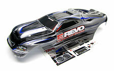 Brushless E-REVO BODY shell (GREY, SILVER, BLUE & Decals 1/10 Traxxas 5608
