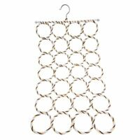 28-hole Ring Rope Holder Hook Scarf Wraps Shawl Storage Hanger J5W1 K7J5
