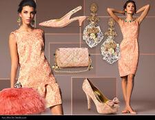 Dolce & Gabbana Pink/Gold Brocade Top & Skirt / Dress 2pc. Set Size : IT44/US8