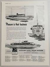 1947 Print Ad Cleveland Diesel Engines Marine Boats General Motors