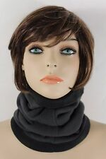 Women Scarf Turtle Neck Warmer Head Cover Outdoor Face Mask Hat Sport Charcoal