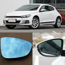 Rearview Mirror Blue Glasses LED Turn Signal with Power Heating For VW Scirocco