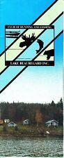 Lake Beauregard Club of Hunting and Fishing Quebec Canada Vintage Brochure