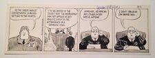 TANK McNAMARA Original Comic Strip Art 8-11-1979 BILL HINDS Jeff Millar Mascot
