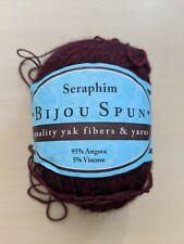 Deep red Seraphim, Bijou spun yak yarn (95% angora), 435 yds/1.75 oz, laceweight