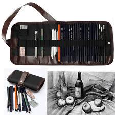 30Pcs Drawing Sketching Sketch Pencil Set Cutter Charcoal Pen Eraser Drawing Bag