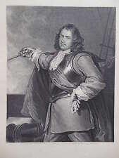 Incisione Originale Ritratto antiquario-Robert Blake-c1850, MILITARE/General