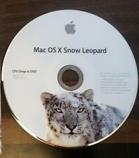 Apple Snow Leopard V10.6 CPU Drop-In DVD
