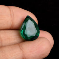 13.00 Carat Translucent Green Amethyst 17 mm Faceted Pear Cut Loose Gems BL-326